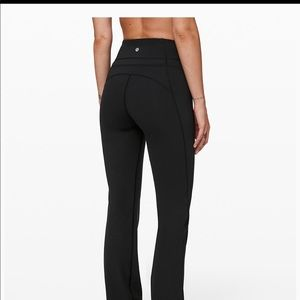 Black Lululemon boot cut yoga pants